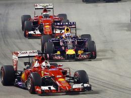 Vettel triumphiert mit Ferrari in der Nacht von Singapur