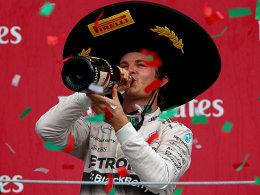 Start-Ziel-Sieg f�r Rosberg - Vettel fliegt