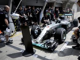 Rosberg erzielt Bestzeit - Zwei Unterbrechungen