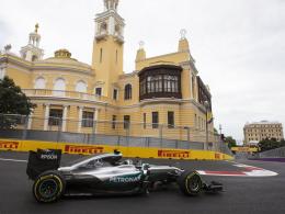 Starker Rosberg siegt bei der Baku-Premiere
