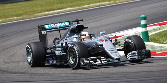 Tagesbester: Mercedes-Pilot Lewis Hamilton.