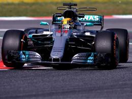Hamilton Schnellster - Galavorstellung von Mercedes