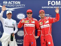 Pole für Räikkönen vor Vettel - Hamilton nur 14.!