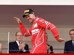 Vettel gewinnt in Monaco vor Räikkönen