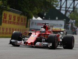 Auftakt in Kanada: Vettel hinter Hamilton
