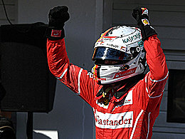Vettel triumphiert beim Ferrari-Doppelsieg