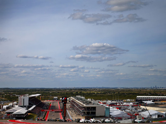 Start- und Ziel in Austin. Dort stand Nico Rosberg auf der Pole Position ...