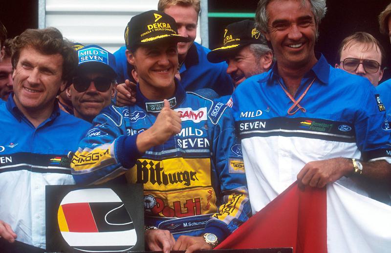 Michael Schumacher und Flavio Briatore
