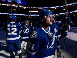 Licht aus, Spot an - auf Steven Stamkos! Der NHL-Toptorjäger traf auch gegen die Capitals.