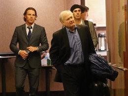 Wie nah dran ist man an einer Einigung? Brad Richards (New York Rangers), Executive Director Donald Fehr und Ryan Miller (Buffalo Sabres, v.l.) dieser Tage nachts in einem New Yorker Hotel.