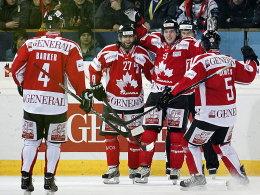 Team Canada gewann das erste Halbfinale und freut sich auf das Traumfinale geegen Lokal-Matador Davos.
