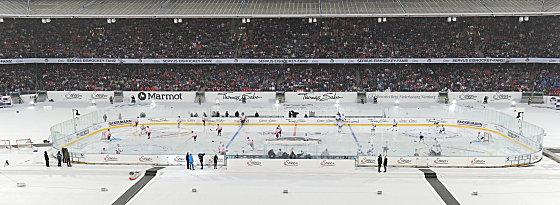Voll besetzt: Im Stadion in Nürnberg findet das Winter Game statt.