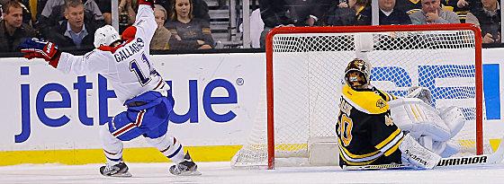 Zwölfter Versuch, erstes Tor: Brendan Gallagher überwindet Bruins-Goalie Tuukka Rask zum Sieg.