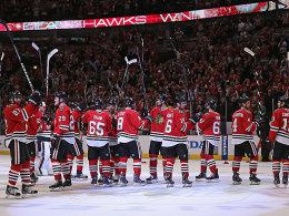 Eine Runde weiter: Die Chicago Blackhawks wurden ihrer Favoritenrolle gerecht.