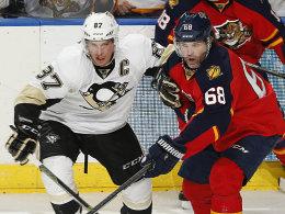 Jaromir Jagr (44) gegen Sidney Crosby (28)