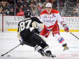 Sidney Crosby, Alexander Ovechkin (r.)