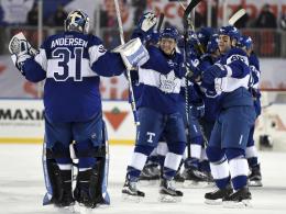 Herzschlagfinale: Leafs jubeln unter freiem Himmel