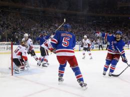 Comeback im Garden: Rangers überrennen Senators