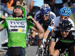 Mark Cavendish ist am Ziel: Der Brite gewann mit dem Sieg der Schlussetappe das Grüne Trikot.