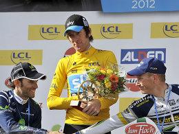 Alejandro Valverde, Bradley Wiggins und Lieuwe Westra