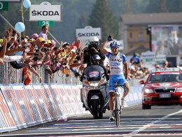 Am Sonntag als Erster im Ziel: Domenico Pozzovivo (Italien) gewann in Lago Laceno.