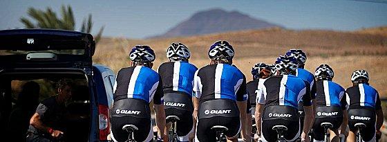 Vorbereitung auf Fuerteventura: Blanco Pro Cycling rollte sich auf den Kanaren ein.