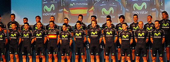 Starkes Team: Bei Movistar tummeln sich mit Valverde oder Karpets einige bekannte Fahrer.