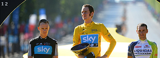 Christopher Froome (links) und Bradley Wiggins