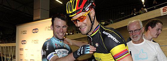 Mark Cavendish (links) und Tom Boonen