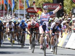 100. Profi-Sieg: Der Rostocker André Greipel gewann zum Abschluss bei der Tour Down Under.