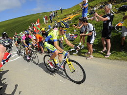 Thomas Voeckler, Jose Serpa und Michael Rogers