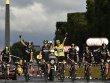 Die wichtigste Zieleinfahrt auf der 102. Tour de France: Sieger Christopher Froome.