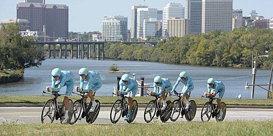 Behalten ihre Lizenz: Die Fahrer von Astana d�rfen weiter in der World-Tour-Serie starten.