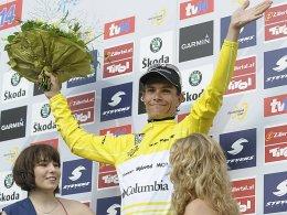 Bislang letzter Sieger der Deutschland Tour: Linus Gerdemann im Jahr 2008.
