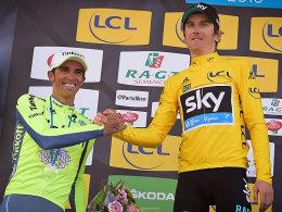 Alberto Contador und Geraint Thomas