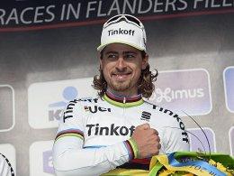 Strahlte bis über beide Ohren: Peter Sagan nach seinem Sieg bei Gent-Wevelgem.