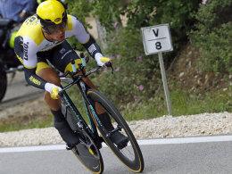 Schnellster im Zeitfahren auf der 9. Etappe: Primoz Roglic aus Slowenien.