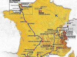In drei Wochen durch Frankreich: Auf 21 Etappen werden �ber 3500 km abgefahren.