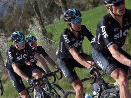 Froome und Contador beim Teamzeitfahren hinterher