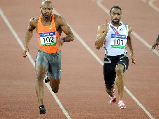 Asafa Powell und Tyson Gay
