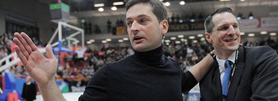 Tigers-Trainer Igor Perovic (li.) und Geschäftsführer Robert Wintermantel