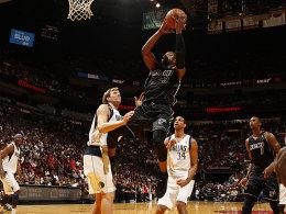Zu Hause eine Macht: Dwyane Wade und die Miami Heat hielten Dirk Nowitzk