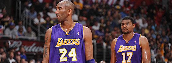 Die Nummer eins in der Stadt: Die Lakers um ihre Protagonisten Koby Bryant und Andrew Bynum (hinten).