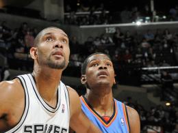 Tim Duncan und Kevin Durant