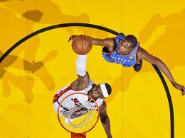 Wie im Vorjahr sieht es gut aus für die Heat: Zieht LeBron James diesmal durch oder gelingt Kevin Durant die Wende?