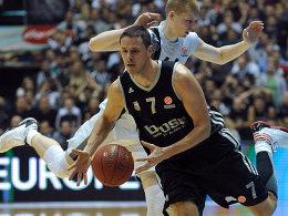 Partizans Davis Bertans gegen Bostjan Nachbar