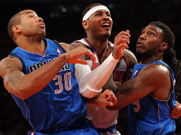Dahntay Jones, Carmelo Anthony und Jae Crowder
