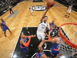 Treibende Kraft: Nets-Topscorer Brook Lopez (Nr.11).