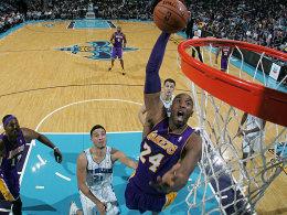 Mit weit aufgerissenem Mund: Kobe Bryant bei seiner Gala in New Orleans.