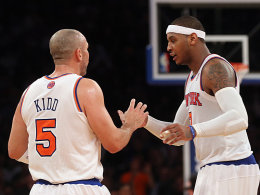 Jason Kidd (re.) und Carmelo Anthony.